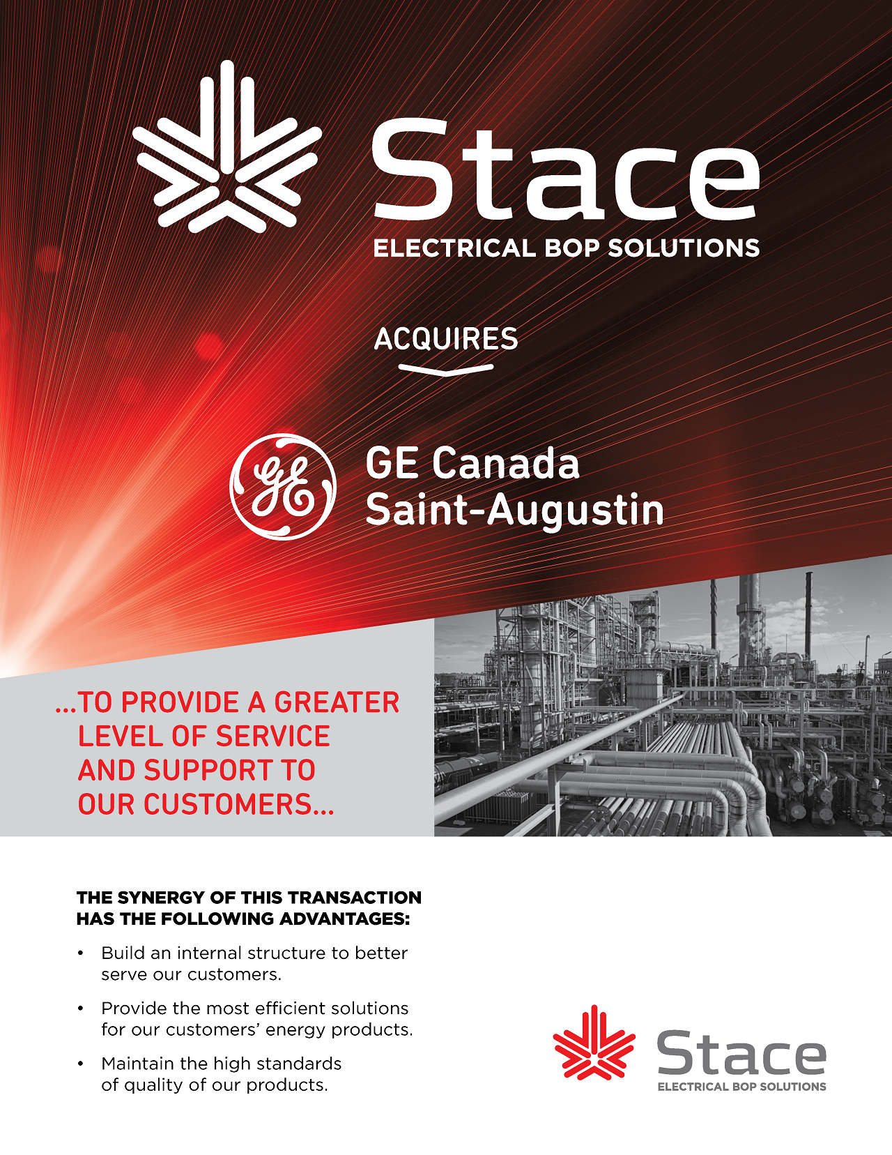 Stace Acquires GE St-Augustin